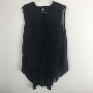 BCBGMAXAZRIA Size XL Black Sleeveless Blouse L17